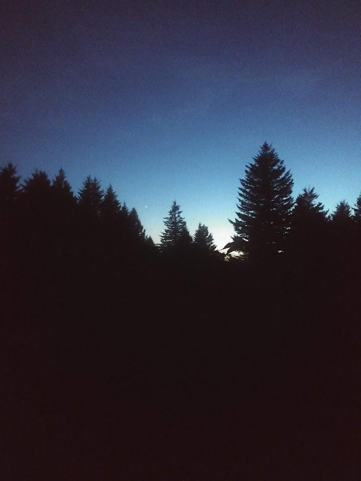 Sunset at Black Balsam Knob
