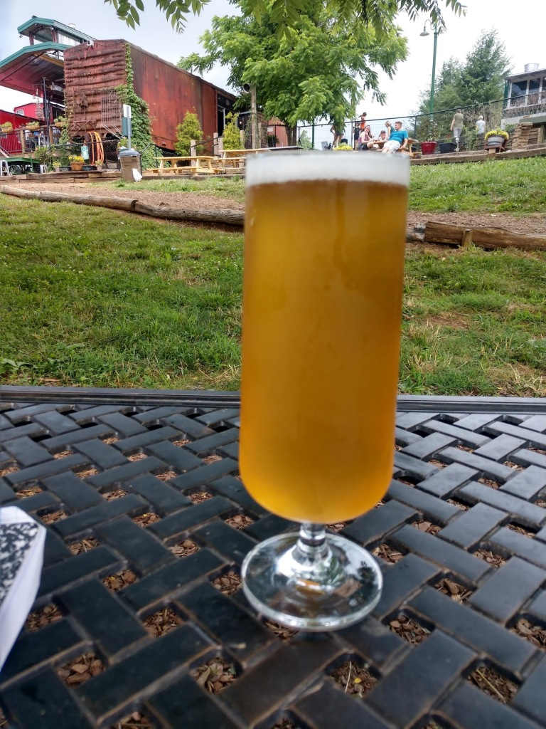 A light beer at Whistle Hop Brewing Company.