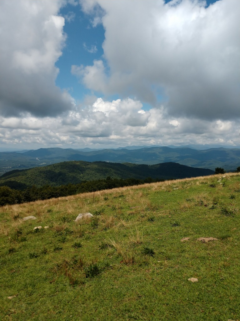 A view of the surrounding countryside from Bearwallow Mountain.